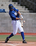 Western Nevada College Wildcats' Kody Reynolds hits in a college baseball game against Colorado Northwestern at John L. Harvey Field in Carson City, Nev., on Friday, April 11, 2014. <br /> Photo by Cathleen Allison/Nevada Photo Source