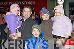 Isabelle O'Shea, Patrick O'Shea, Taironas Svoiskis, Kerry and Lilly O'Shea Killorglin waiting for Santa Claus to arrive in Killorglin on Sunday evening..