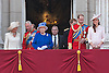 THE QUEEN AND FAMILY MEMBERS<br /> watch the flypast by the RAF on the balcony of Buckingham Palace during Trooping of the Colour.<br /> The Duke of Edinburgh missed the event as he is hospitalised after undergoing surgery.<br /> The Trooping marks the official birthday of the Queen_15/6/2013<br /> Mandatory Credit Photo: &copy;Joe/NEWSPIX INTERNATIONAL<br /> <br /> **ALL FEES PAYABLE TO: &quot;NEWSPIX INTERNATIONAL&quot;**<br /> <br /> IMMEDIATE CONFIRMATION OF USAGE REQUIRED:<br /> Newspix International, 31 Chinnery Hill, Bishop's Stortford, ENGLAND CM23 3PS<br /> Tel:+441279 324672  ; Fax: +441279656877<br /> Mobile:  07775681153<br /> e-mail: info@newspixinternational.co.uk