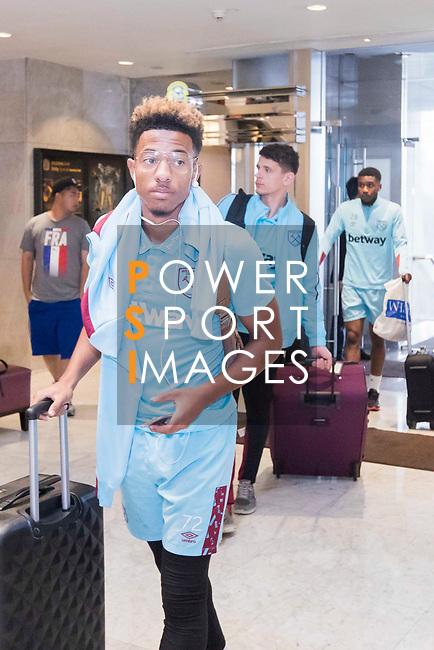 Players arrive at the Hong Kong International Airport for the HKFC Citi Soccer Sevens 2017 on 24 May 2017 in Hong Kong, China. Photo by King Chung Fung / Power Sport Images