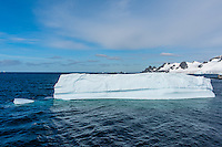 Antarctica expedition aboard the Hurtigruten FRAM ship. Ice at Half Moon Island.