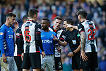 02.02.2019: Rangers v St Mirren: Referee Andrew Dallas at the second penalty award