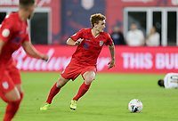 WASHINGTON, D.C. - OCTOBER 11: Josh Sargent #19 of the United States turns with the ball during their Nations League game versus Cuba at Audi Field, on October 11, 2019 in Washington D.C.