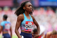 Courtney Okolo of USA after competing in the womenís 400 metres during the Muller Anniversary Games at The London Stadium on 9th July 2017