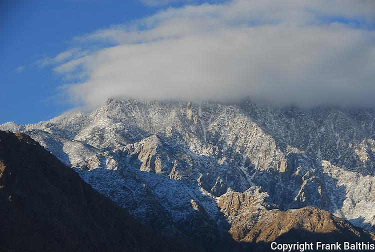 Mt. San Jacinto with winter snow