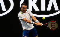 ROBERTO BAUTISTA AGUT (ESP)<br /> <br /> TENNIS , AUSTRALIAN OPEN,  MELBOURNE PARK, MELBOURNE, VICTORIA, AUSTRALIA, GRAND SLAM, HARD COURT, OUTDOOR, ITF, ATP, WTA<br /> <br /> &copy; TENNIS PHOTO NETWORK