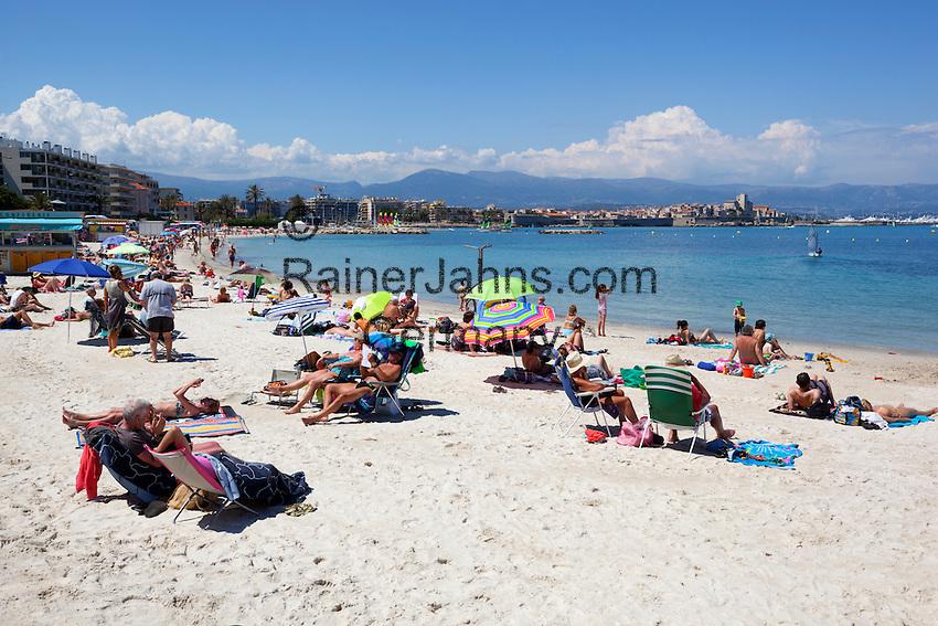 France, Provence-Alpes-Côte d'Azur, Antibes: beach   Frankreich, Provence-Alpes-Côte d'Azur, Antibes: Strand