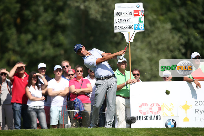 Matteo Manassero (ITA) plays to the 12th during Round Two of the 2015 BMW International Open at Golfclub Munchen Eichenried, Eichenried, Munich, Germany. 26/06/2015. Picture David Lloyd | www.golffile.ie