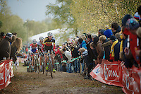 Superprestige Zonhoven 2013<br /> <br /> Klaas Vantornout (BEL) leading the way