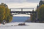 Rowing, Head of the Lake Regatta, November 2 2014, Seattle, Western Washington University crew, men's 3JV 8+, Washington State, Lake Washington Rowing Club, Lake Washington Ship Canal, Montlake Cut,