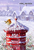 Marcello, CHRISTMAS LANDSCAPES, WEIHNACHTEN WINTERLANDSCHAFTEN, NAVIDAD PAISAJES DE INVIERNO, paintings+++++,ITMCXM1663A,#XL# ,red robin
