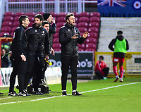 Lincoln City manager Danny Cowley, left, and Lincoln City's assistant manager Nicky Cowley issue instructions from the technicall area<br /> <br /> Photographer Andrew Vaughan/CameraSport<br /> <br /> The EFL Sky Bet League Two - Swindon Town v Lincoln City - Saturday 12th January 2019 - County Ground - Swindon<br /> <br /> World Copyright © 2019 CameraSport. All rights reserved. 43 Linden Ave. Countesthorpe. Leicester. England. LE8 5PG - Tel: +44 (0) 116 277 4147 - admin@camerasport.com - www.camerasport.com