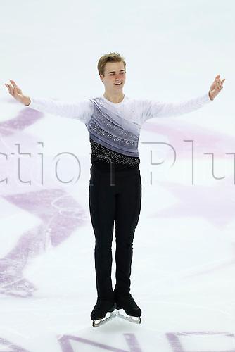 08.12.2016. Palais Omnisports, Marseille, France. ISU Junior Figure Skating Grand Prix Final. ISU Junior Figure Skating Grand Prix Final.  Alexei Krasnozhon (USA) competes in the Men's Short Program.