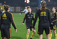 20191108 - Zapresic , BELGIUM : Belgian Sarah Wijnants pictured during the female soccer game between the womensoccer teams of  Croatia and the Belgian Red Flames , the third women football game for Belgium in the qualification for the European Championship round in group H for England 2021, friday 8 th october 2019 at the NK Inter Zapresic stadium near Zagreb , Croatia .  PHOTO SPORTPIX.BE | DAVID CATRY
