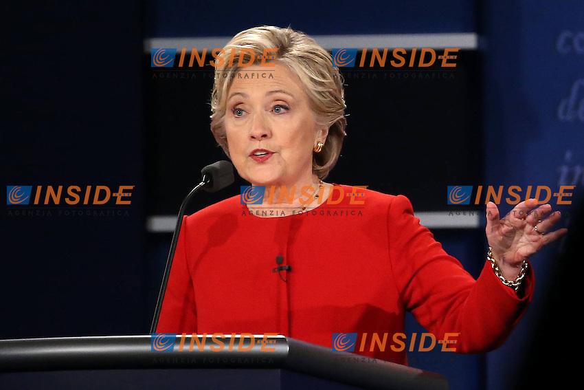 New York (Stati Uniti) 26/09/2016 - elezioni presidenziali americane / confronto televisivo candidati / foto Imago/Insidefoto <br /> nella foto: Hillary Clinton ONLY ITALY