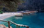 Butterfly Valley a secluded beach and cove a short distance by boat from Olu Deniz, Turkey