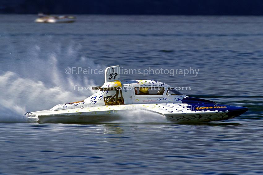 """Barbara Michael, E-57 """"The Cheetah""""  (5 Litre class hydroplane(s) Lake Chelan, Chelan, WA 1999"""