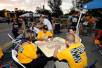 6 December 2008:  FIU fans enjoy dominoes during the tailgating party prior to the FIU 27-3 victory over Western Kentucky at FIU Stadium in Miami, Florida.