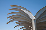 Metal Palm Design on Alicante Harbour Wall Pier Promenade Walk, Spain