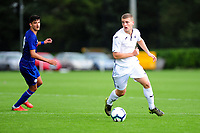 Cameron Evans of Swansea City in action during the Premier League u18 match between Swansea City AFC and Chelsea FC at Landore Training Ground, Wales, UK. Tuesday 11th September 2018
