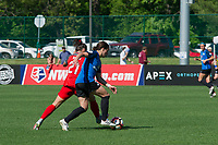 Kansas City, MO - Saturday May 13, 2017:  Hayley Raso, Christina Gibbons during a regular season National Women's Soccer League (NWSL) match between FC Kansas City and the Portland Thorns FC at Children's Mercy Victory Field.