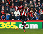 Leon Clarke of Sheffield Utd shoots during the Championship match at Bramall Lane Stadium, Sheffield. Picture date 26th December 2017. Picture credit should read: Simon Bellis/Sportimage