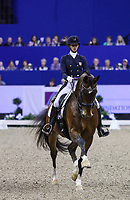 OMAHA, NEBRASKA - MAR 30: Laura Graves rides Verdades during the FEI World Cup Dressage Final II at the CenturyLink Center on April 1, 2017 in Omaha, Nebraska. (Photo by Taylor Pence/Eclipse Sportswire/Getty Images)
