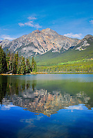 Patricia Mountain reflecting in Patricia Lake Jasper National Park Alberta Canada