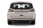 Straight rear view of 2016 Ford S-Max Titanium 5 Door Minivan Rear View  stock images