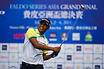 Azman Basharudin of Malaysia tees off during the 2011 Faldo Series Asia Grand Final on the Faldo Course at Mission Hills Golf Club in Shenzhen, China. Photo by Raf Sanchez / Faldo Series