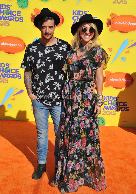 WWW.ACEPIXS.COM<br /> <br /> March 28 2015, LA<br /> <br /> Mark Ballas and BC Jean arriving at Nickelodeon's 28th Annual Kids' Choice Awards at The Forum on March 28, 2015 in Inglewood, California. <br /> <br /> <br /> By Line: Peter West/ACE Pictures<br /> <br /> <br /> ACE Pictures, Inc.<br /> tel: 646 769 0430<br /> Email: info@acepixs.com<br /> www.acepixs.com