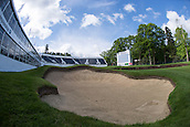 19.05.2015. Wentworth, England. BMW PGA Golf Championship. Practice Day.   General view of the bunker and viewing galleries at the 18th hole.  The West Course Wentworth Golf Club