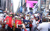 NEW YORK, NY - AUGUST 31: FOX Sports Big 12 Conference games Times Square Kickoff in New York City on August 31, 2017. Credit: RW/MediaPunch