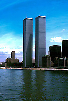 World trade centre.Twin towers Series of images from New York between 1975 -1977. New York,USA.