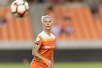 Houston, TX - Saturday July 08, 2017: Janine van Wyk attempts to control a loose ball during a regular season National Women's Soccer League (NWSL) match between the Houston Dash and the Portland Thorns FC at BBVA Compass Stadium.