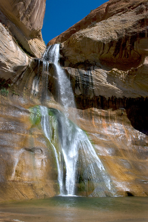 Lower Calf Creek Falls. Easily one of the most popular sights in Escalante, it is still so worthwhile to go see.