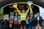 Edvald Boasson Hagen (NOR) Team Dimension Data wins Stage 1 and wears the first leaders Yellow Jersey of the Criterium du Dauphine 2019, running 142km from Aurillac to Jussac, France. 9th June 2019<br /> Picture: ASO/Alex Broadway | Cyclefile<br /> All photos usage must carry mandatory copyright credit (© Cyclefile | ASO/Alex Broadway)