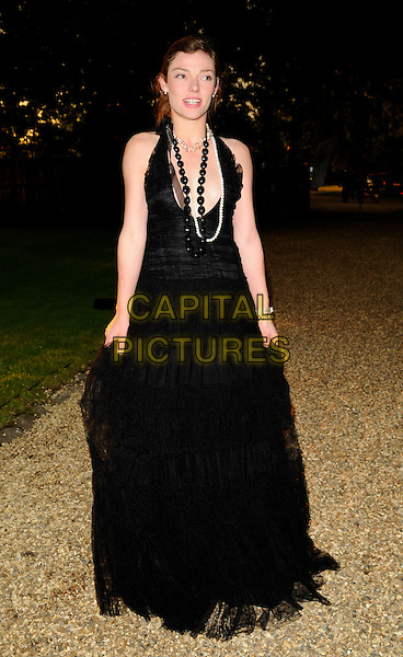 CAMILLA RUTHERFORD.At the Russia Midsummer Fantasy, in aid of the Raisa Gobachev Foundation, Stud House, Home Park, Hampton Court, England, UK, 7th June 2008. .arrivals full length black long dress low cut necklaces.CAP/CAN.©Can Nguyen/Capital Pictures
