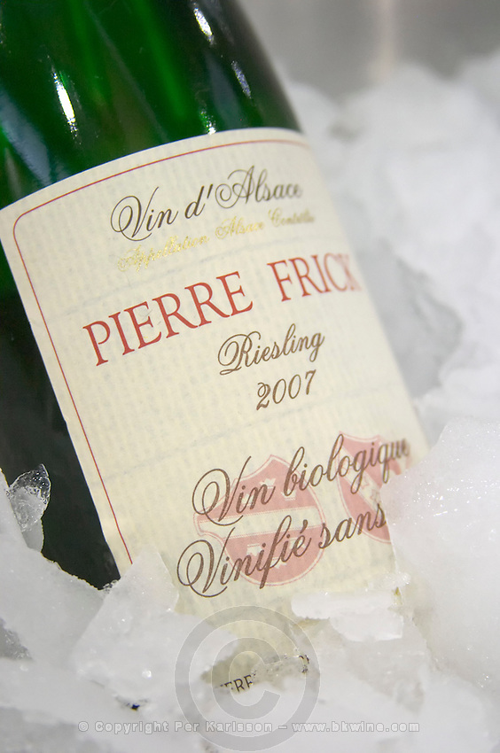 ice bucket riesling 2007 organic without sulphur on label domaine pierre frick pfaffenheim alsace france