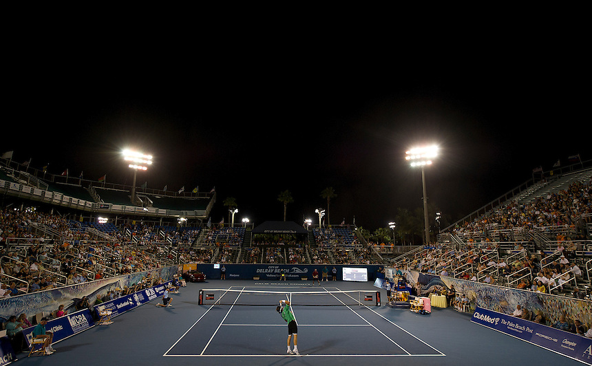 A general view of the stadium as Carlos Moya (ESP) defeats Ivan Lendl (USA) in their Final match today - Carlos Moya (ESP) def Ivan Lendl (USA) 6-4 6-4..Tennis - 2012 ATP Champions Tour - Day 5 - Tuesday 28 February 2012 - Delray Beach Stadium & Tennis Center - Delray Beach - Florida - USA ..