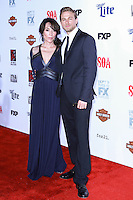 HOLLYWOOD, LOS ANGELES, CA, USA - SEPTEMBER 06: Katey Sagal, Charlie Hunnam arrive at the Los Angeles Premiere Of FX's 'Sons Of Anarchy' Season 7 held at the TCL Chinese Theatre on September 6, 2014 in Hollywood, Los Angeles, California, United States. (Photo by David Acosta/Celebrity Monitor)