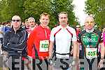 Pat Finegan Tralee, John Murphy Killarney, Jerry O'Sullivan Castleisland and Eamon Murphy Killarney who competed at the Killarney Lions club triathlon at Ross Castle on Saturday ..