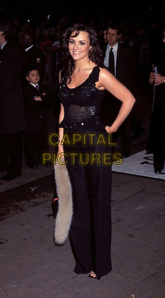 MARTINE MCCUTCHEON.black dress.Ref: 10253 .www.capitalpictures.com.sales@capitalpictures.com.©Capital Pictures