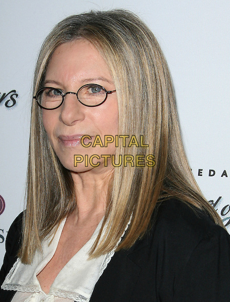Barbra Streisand.Cedars-Sinai Board Of Governors Honor Barbara Streisand And Robert Barth held at The Beverly Hilton Hotel, Beverly Hills, California, USA..November 8th, 2011.headshot portrait black blouse white glasses  .CAP/ADM.©AdMedia/Capital Pictures.