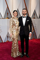 www.acepixs.com<br /> <br /> February 26 2017, Hollywood CA<br /> <br /> Jessica Biel and Justin Timberlake arriving at the 89th Annual Academy Awards at Hollywood &amp; Highland Center on February 26, 2017 in Hollywood, California.<br /> <br /> By Line: Z17/ACE Pictures<br /> <br /> <br /> ACE Pictures Inc<br /> Tel: 6467670430<br /> Email: info@acepixs.com<br /> www.acepixs.com