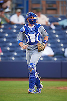 Mesa Solar Sox catcher Cael Brockmeyer (16) backs up a play during an Arizona Fall League game against the Peoria Javelinas on October 21, 2015 at Peoria Stadium in Peoria, Arizona.  Peoria defeated Mesa 5-3.  (Mike Janes/Four Seam Images)