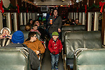 THOMASTON, CT. 08 December 2018-120818 - Bobby Dwyer, 4, of Torrington boards the The Northern Lights Limited train which will visit with Santa and his elves at the Railroad Museum of New England in Thomaston on Saturday. Bill Shettle Republican-American