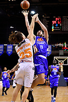 Saints&rsquo; Jordan Ngtai in action during the NBL - Wellington Saints v Hawkes Bay Hawks  at TSB Bank Arena, Wellington, New Zealand on Friday 11 May 2018.<br /> Photo by Masanori Udagawa. <br /> www.photowellington.photoshelter.com