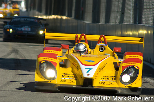 31 August 2007: The Penske Motorsports Porsche RS Spyder driven by Romain Dumas (FRA) at the Detroit Sports Car Challenge presented by Bosch, Detroit, MI