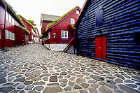 Faroe Islands. Tinganes in Tórshavn, the capital and largest town.